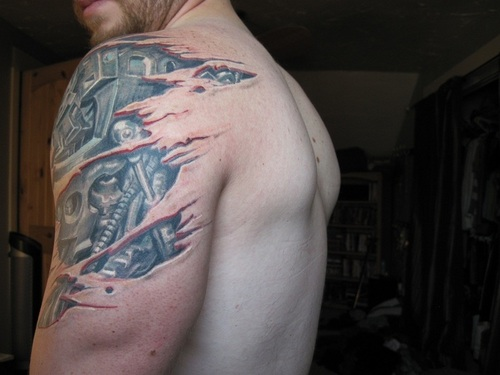 41 Mechanical Tattoos On Shoulder Ideas And Designs