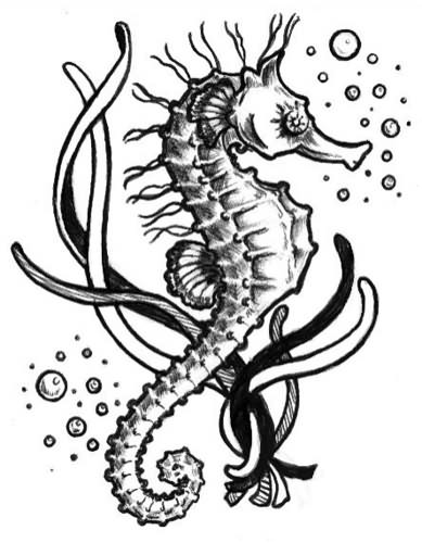 60 Sea Creature Sea Horse Tattoo Designs And Pictures Ideas And Designs