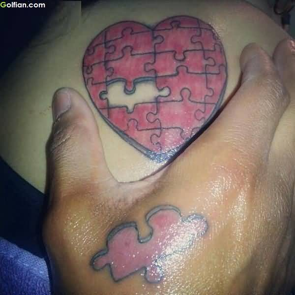 28 Heart Puzzle Tattoos Ideas And Designs