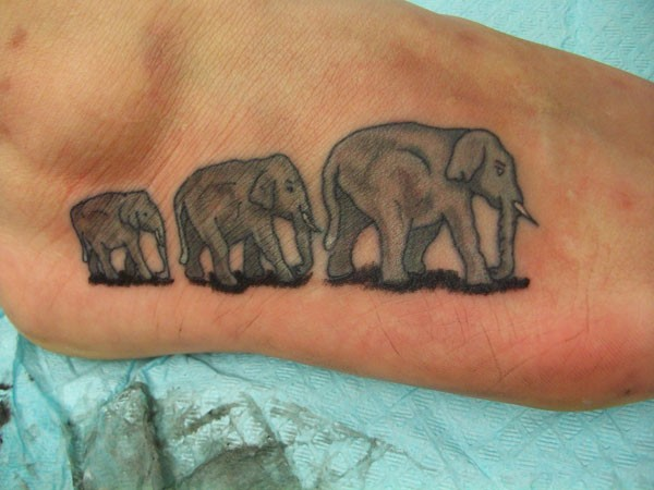 30 Elephant Tattoos On Foot Ideas And Designs