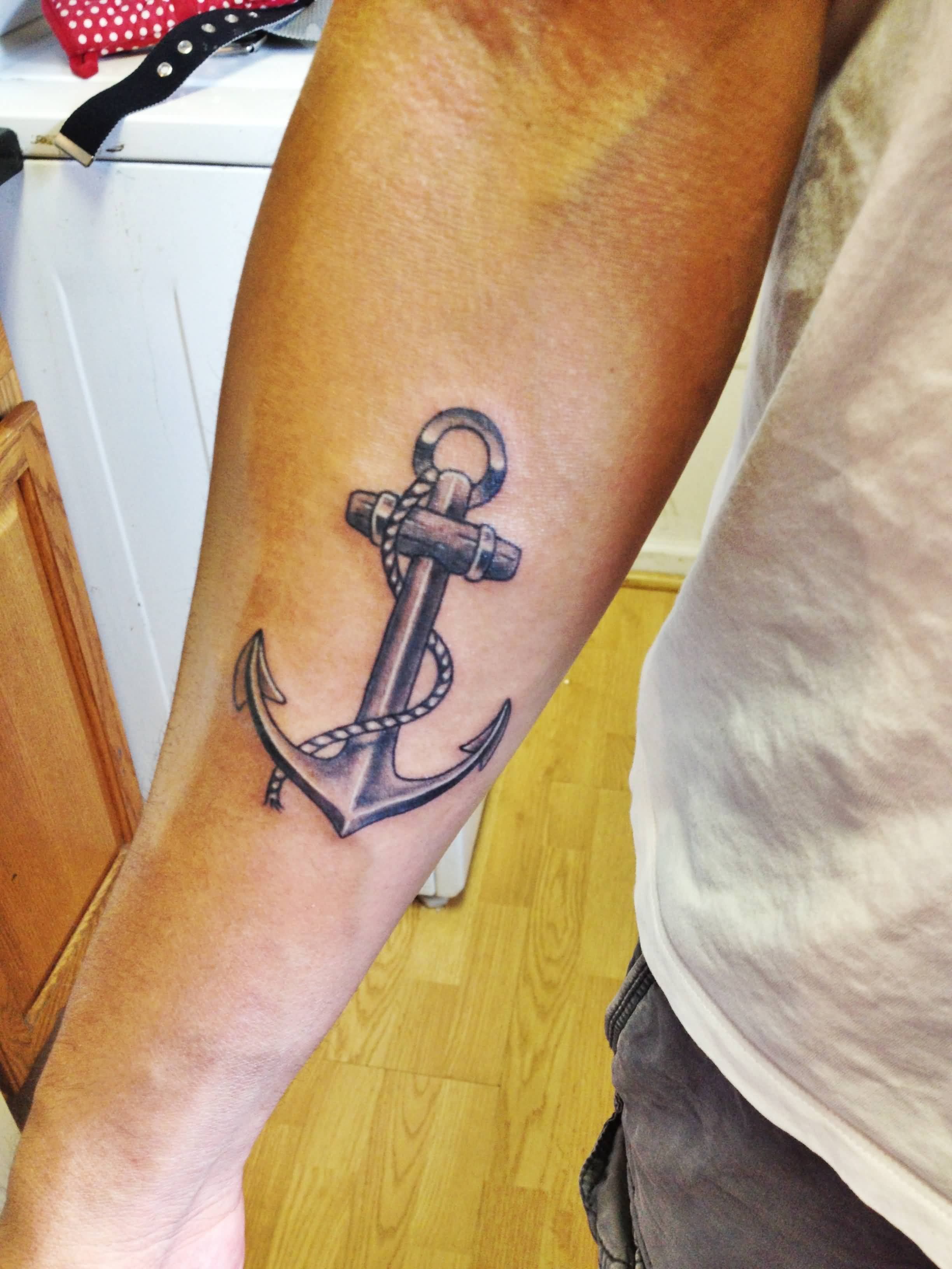 42 Anchor Tattoos On Forearm Ideas And Designs