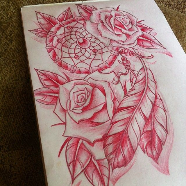 36 Dreamcatcher With Roses Tattoos Ideas Ideas And Designs
