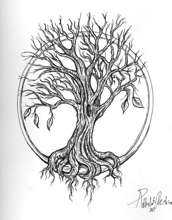 55 Latest Oak Tree Tattoos Collection Ideas And Designs