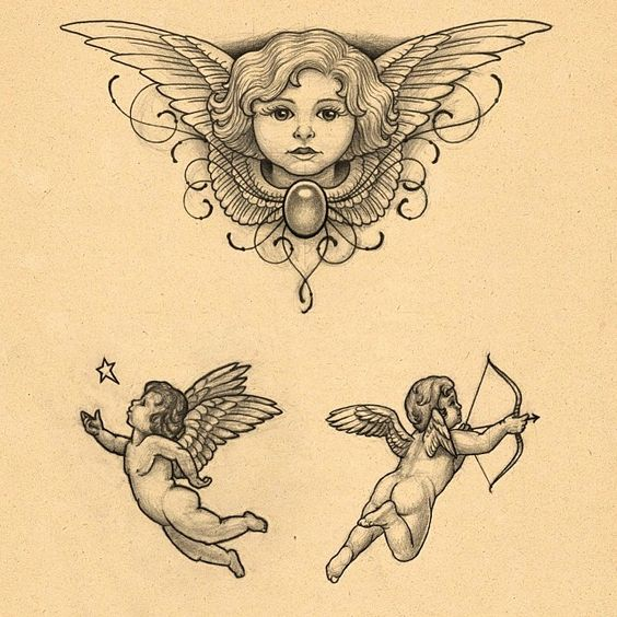 65 Adorable Cherub Tattoos Designs With Meanings Ideas And Designs