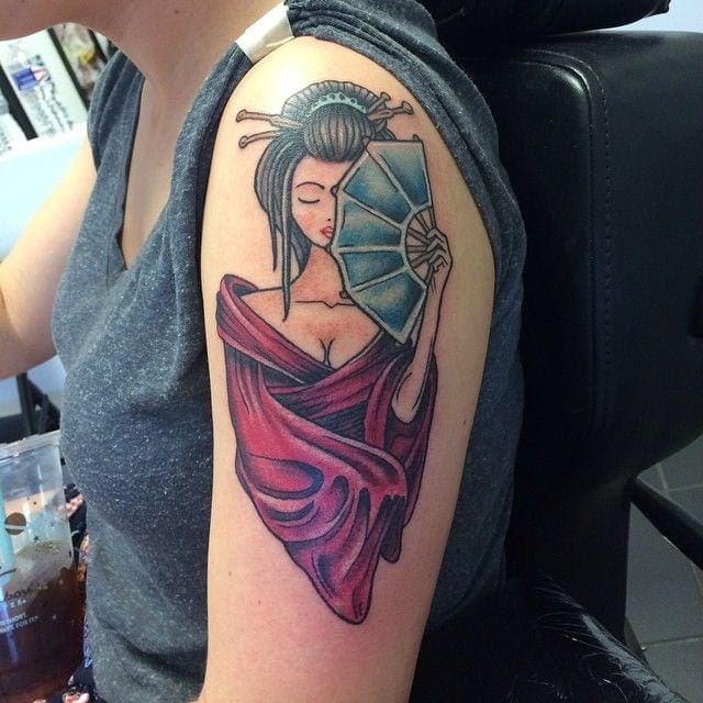 Japanese Girl Tattoo Meaning Creativefan Ideas And Designs