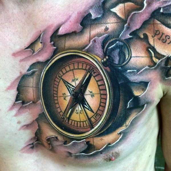 113 Compass Tattoo Designs To Help You Find Your Way Ideas And Designs