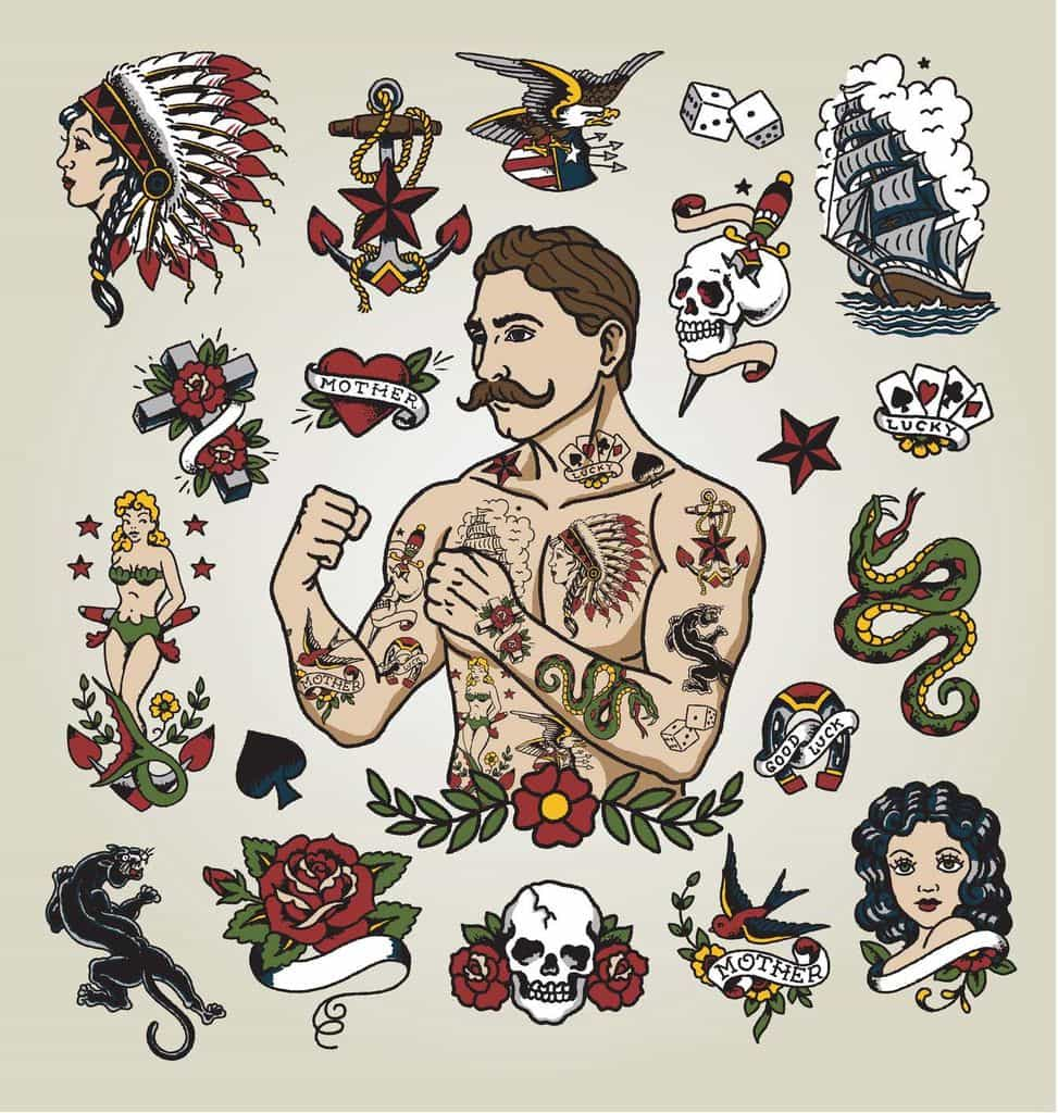 American Traditional Tattoo Skin Factory Tattoo Body Ideas And Designs