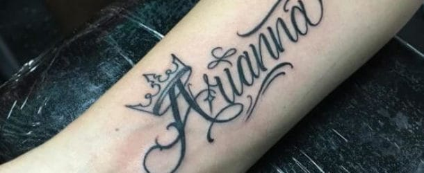 50 Name Tattoos For Men 2019 Kids Wife Parents