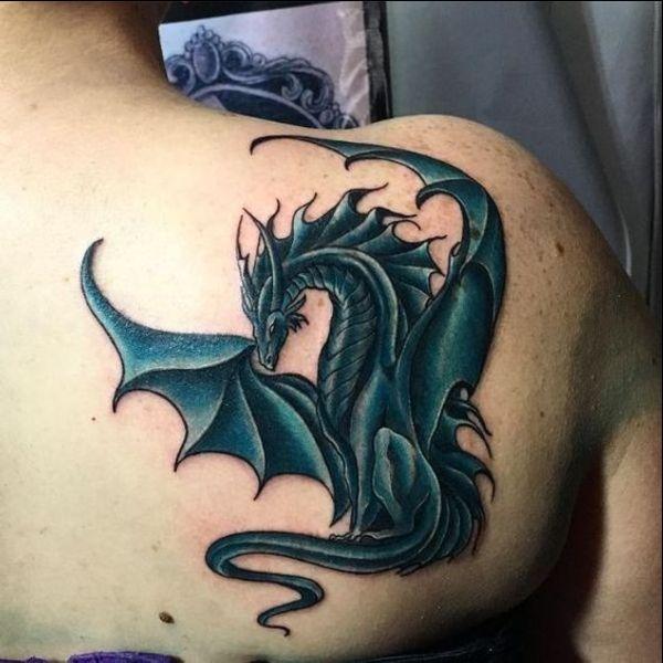 dragon back tattoos