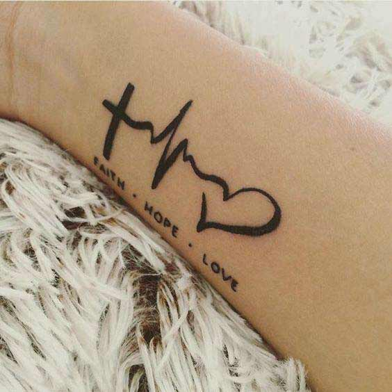 faith hope love symbol tattoos