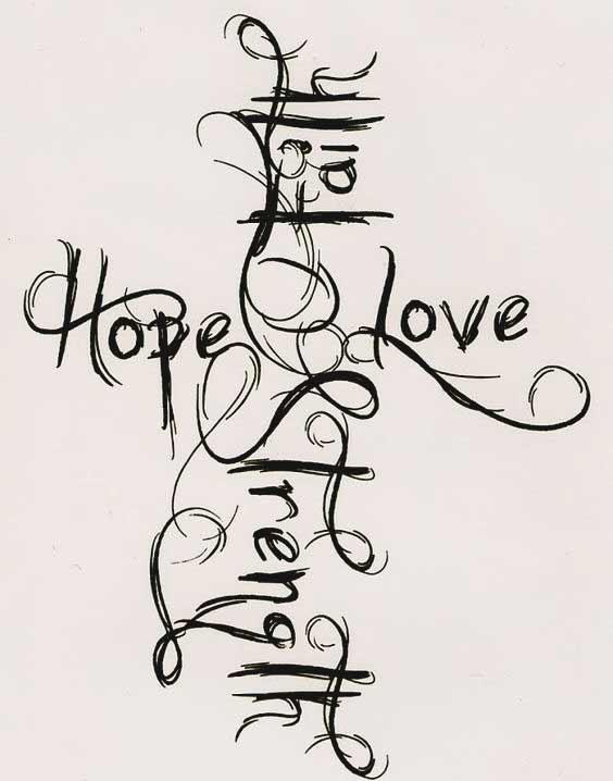 Faith Hope Love Tattoos - 45 Perfectly Cute Tattoos With ...