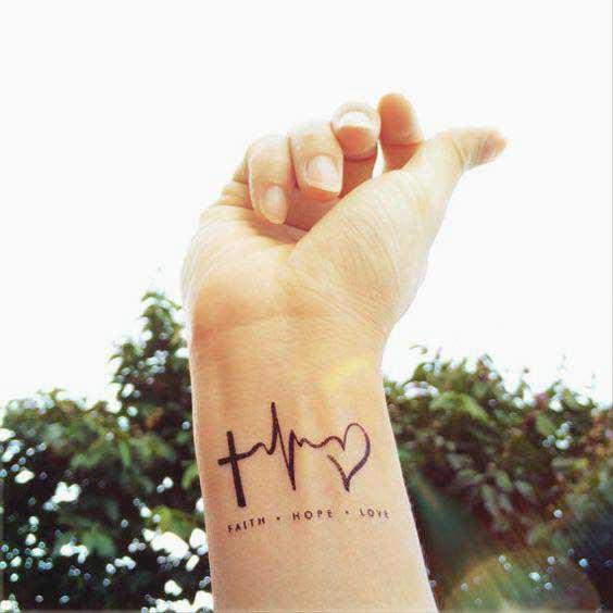 Faith hope and love tattoos always motivates everyone