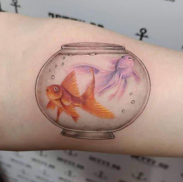 fish aquarium tattoos