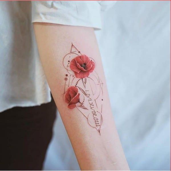 rose tattoos forearm