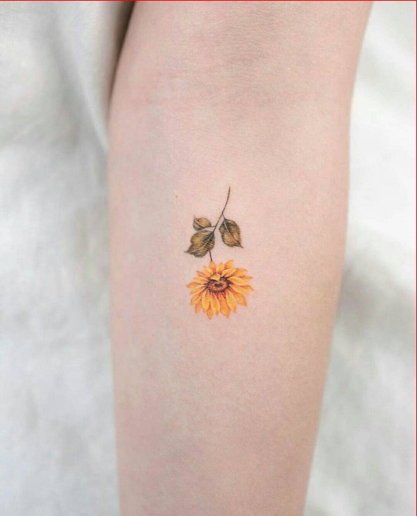 sunflower tattoo ideas