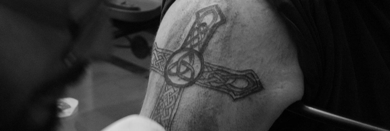Celtic cross tatoo