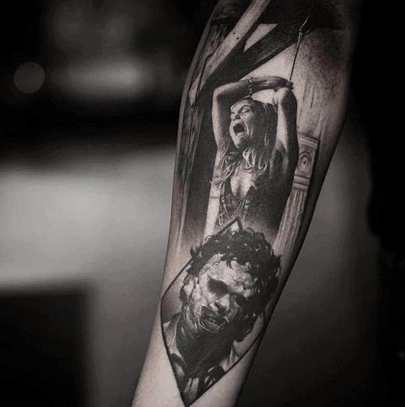Leatherface Tattoo by christian_sigil