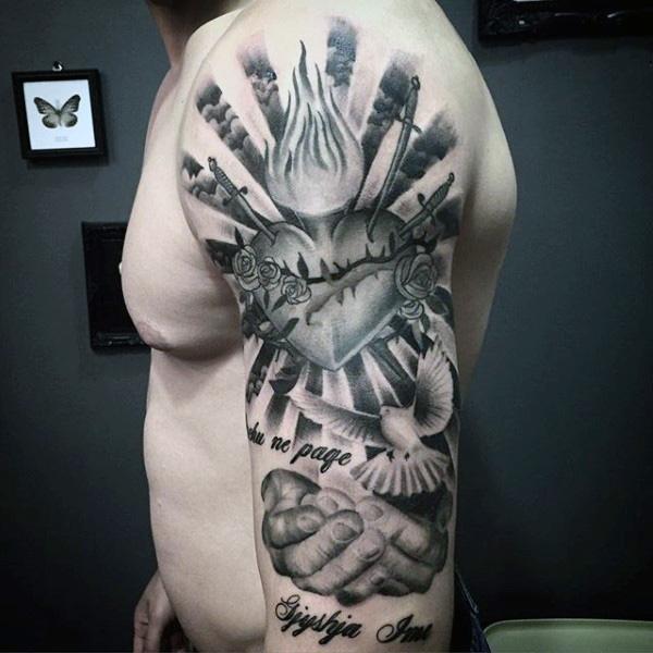 Tatuaje Sagrado De Jesus Corazon