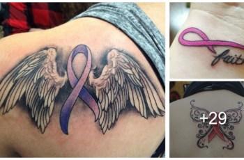 Tatuajes de la Cinta del Cáncer de Mama