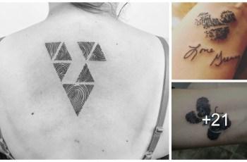 Tatuajes en Forma de de Huella Digital
