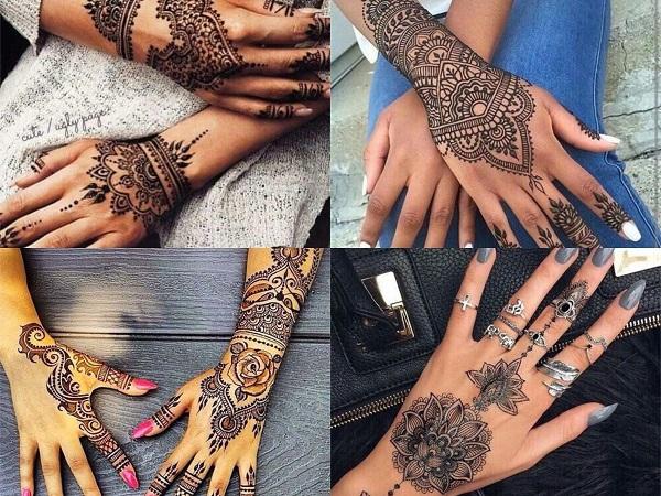 Tatuajes Mehndi Diseños : Tatuajes de la hamsa o mano fátima para mujer u