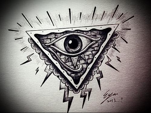Всевидящее око тату классный эскиз - tatufoto.com