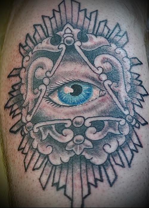 Всевидящее око тату на куру - tatufoto.com