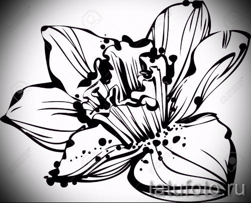 эскизы тату цветов черно белые рисунки от 26042016 2