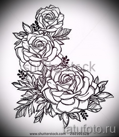 эскиз тату цветы на руку рисунки от 26042016 1