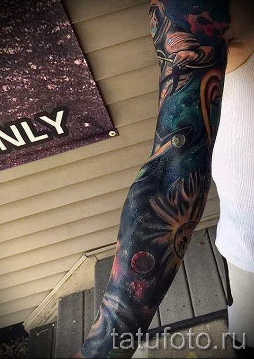 тату космос рукав - фото готовой татуировки 41181 tatufoto ...