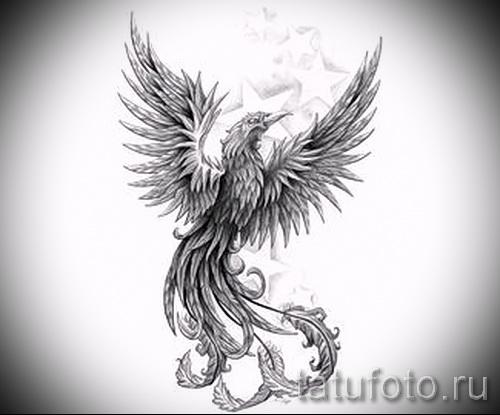 Эксклюзивный эскиз наколки феникс эксклюзивный рисунок