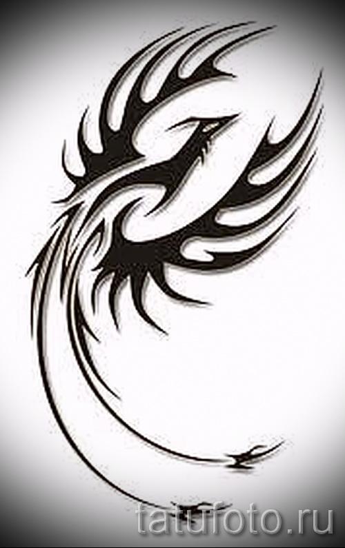 Эксклюзивный эскиз тату феникс оригинальный рисунок для