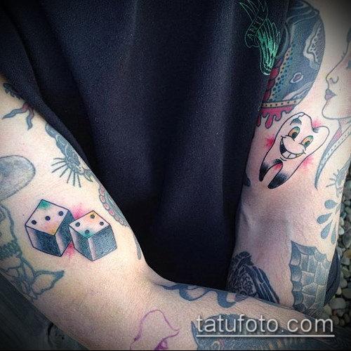 Фото тату игральные кости №338 - эксклюзивный вариант ...