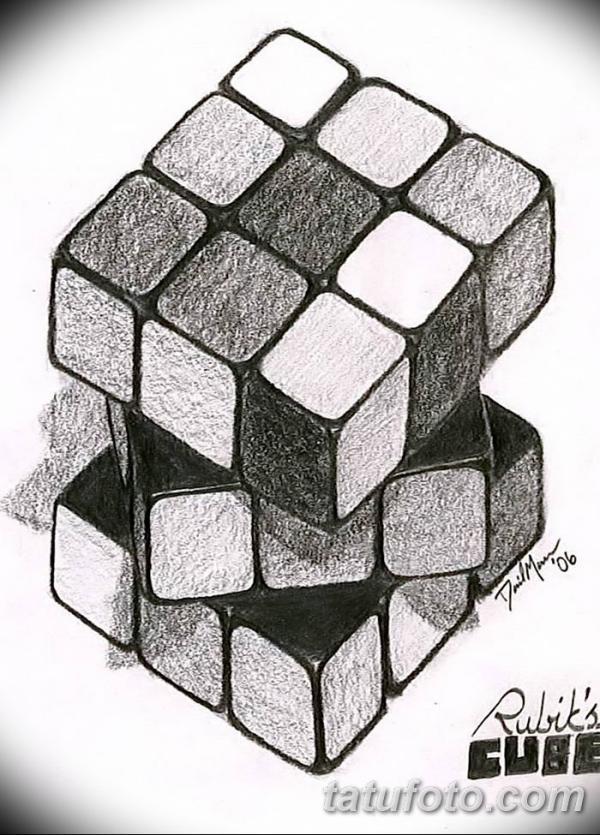 фото тату Кубик Рубика от 24.02.2018 №072 - tattoo Rubik's ...