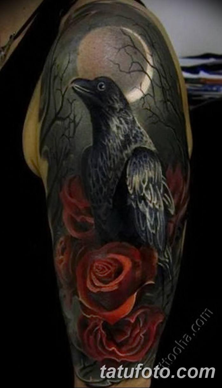 фото тату ворон от 15092018 135 Raven Tattoos Tatufotocom
