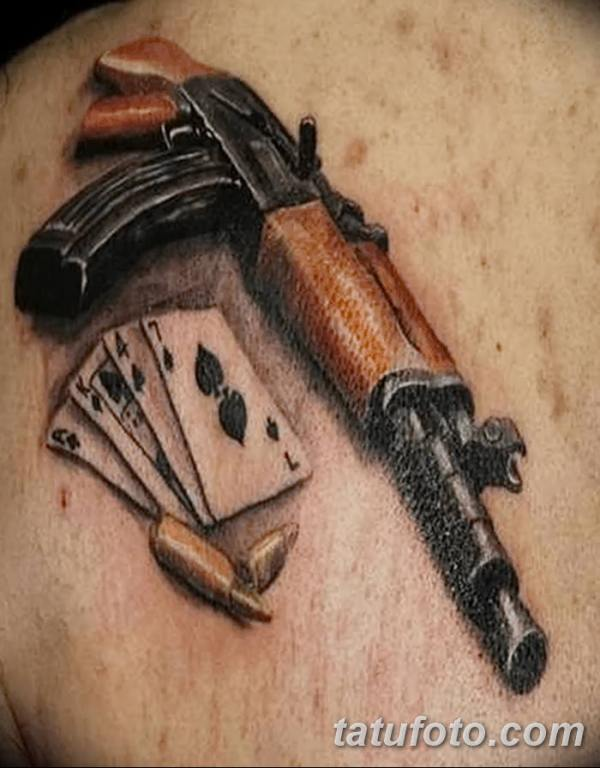 Фото рисунка Татуировки АК-47 29.10.2018 №008 - Tattoo AK ...