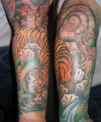 Татуировка Тигр | Наколка Оскал и Лапа | Значения тату ...