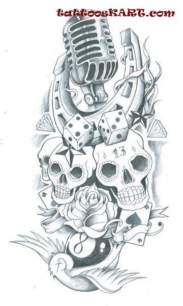 Татуировка Игральные кости (кубики) | Значения | 57 фото и ...