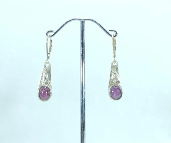 Boucles d'oreilles rubis étoilé