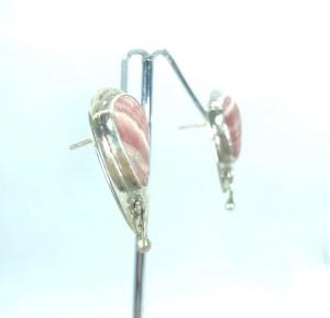 Boucles d'oreilles rhodochrosite