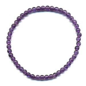 bracelet améthyste 4mm