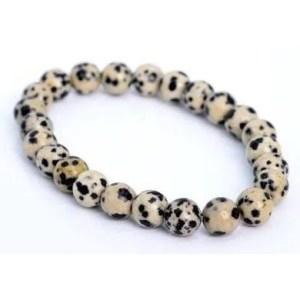 Bracelet Jaspe dalmatien 8mm