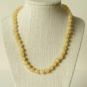 Collier Calcite Jaune