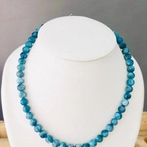 Collier Apatite Bleu