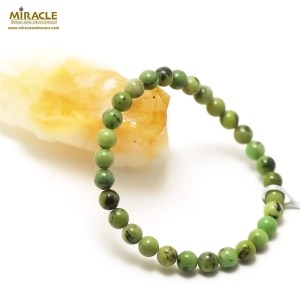 Bracelet Chrysoprase 6mm