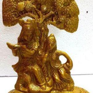 Statue Résine Tara Or 20cm