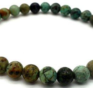 Bracelet Turquoise Africaine perles 6mm