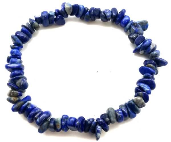 Bracelet Baroque Lapis Lazuli 'B'