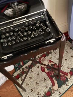 Vintage typewriter/side table