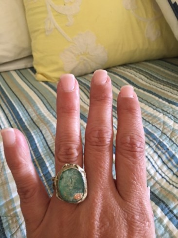Sea glass ring from Israel